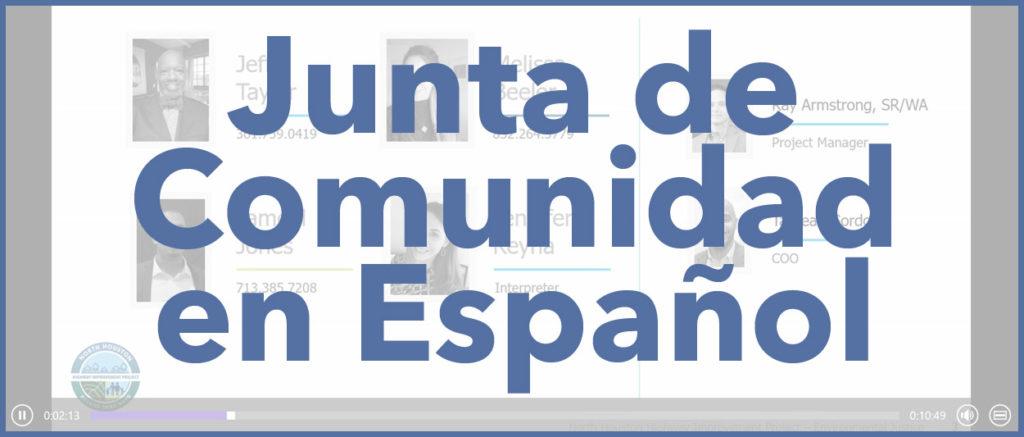 Junta de Comunidad en Español
