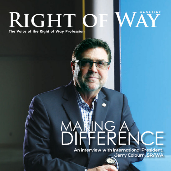 IRWA Magazine Cover Jerry Colburn President